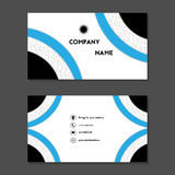 Карточка посещения или визитная карточка с голубыми кольцами стоковые изображения