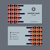Карточка посещения или визитная карточка с interlacement Стоковое Изображение RF