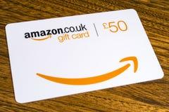 Карточка подарка Амазонки Стоковые Изображения RF