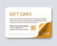 Карточка подарка дизайна с углом золота лоснистым бесплатная иллюстрация