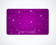 Карточка подарка/карточка рабата/визитная карточка. Звезды Стоковые Фото