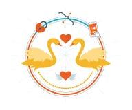 Карточка подарка дня валентинок иллюстрация штока