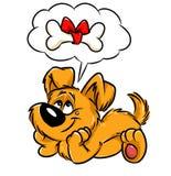 Карточка подарка собаки Стоковые Фото