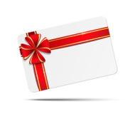 Карточка подарка с пустым космосом Стоковое фото RF