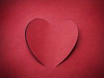 Карточка праздника. Сердце от бумажного дня Валентайн Стоковые Изображения RF