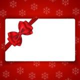 Карточка праздников зимы с пустым пространством Стоковая Фотография RF