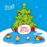 Карточка праздника на Новый Год Стоковое фото RF
