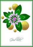 Карточка праздника с удачливыми листьями и цветком клевера на белой предпосылке на день St. Patrick 17-ое марта Стоковая Фотография RF