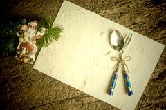 Карточка предпосылки меню рождества Стоковое Изображение
