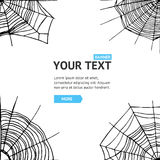 Карточка предпосылки сети паука вектор Стоковые Изображения