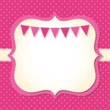 Карточка прибытия ребёнка Стоковые Фото