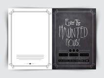 Карточка приветствию или приглашению на хеллоуин Стоковое фото RF
