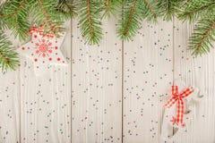 карточка 2007 приветствуя счастливое Новый Год Улучшите на рождество или Новый Год Место для вашего Стоковые Фото