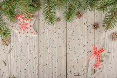 карточка 2007 приветствуя счастливое Новый Год Улучшите на рождество или Новый Год Место для вашего Стоковые Фотографии RF