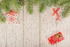 карточка 2007 приветствуя счастливое Новый Год Улучшите на рождество или Новый Год Место для вашего Стоковые Изображения RF