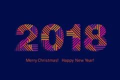 карточка 2007 приветствуя счастливое Новый Год Стоковые Изображения