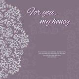 карточка 2007 приветствуя счастливое Новый Год Круговой флористический орнамент Стоковое Изображение RF