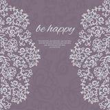 карточка 2007 приветствуя счастливое Новый Год Круговой флористический орнамент Стоковое Фото
