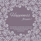 карточка 2007 приветствуя счастливое Новый Год Круговой флористический орнамент Стоковые Изображения