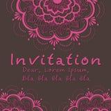 Карточка приглашения вектора с флористическим элементом Стоковое Изображение