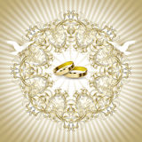Карточка приглашения венчания год сбора винограда Стоковое фото RF