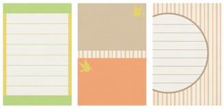 Карточка приглашения в померанцовых, коричневых и голубых цветах Стоковое Изображение RF