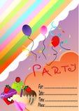 Карточка приглашения дня рождения с тортами Стоковые Фотографии RF