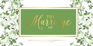 Карточка приглашения замужества Стоковые Изображения RF