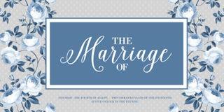 Карточка приглашения замужества Стоковая Фотография