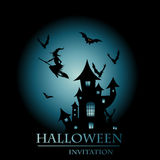 Карточка приглашения Halloween Стоковые Изображения RF