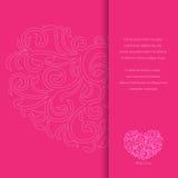 Карточка приглашения валентинки Стоковая Фотография
