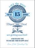 Карточка приглашения венчания Стоковые Фотографии RF