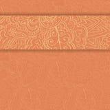 Карточка приглашения год сбора винограда Стоковое Изображение