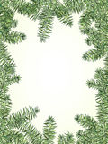 Карточка приглашения ели рождества и Нового Года бесплатная иллюстрация
