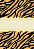 Карточка приглашения знамени печати тигра Стоковые Фото