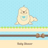 Карточка приглашения ливня младенца Стоковое фото RF