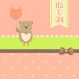 Карточка приглашения ливня младенца Стоковое Изображение RF