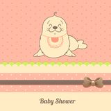 Карточка приглашения ливня младенца Стоковое Изображение