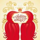 Карточка приглашения или венчания Стоковые Изображения