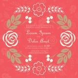 Карточка приглашения или объявления свадьбы Стоковые Изображения