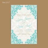 Карточка приглашения или объявления свадьбы Стоковые Изображения RF