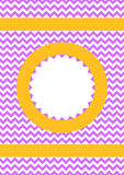 Карточка приглашения картины зигзага Стоковые Фото