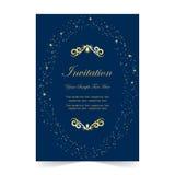 Карточка приглашения, карточка свадьбы на голубой предпосылке иллюстрация штока