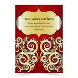 Карточка приглашения, карточка свадьбы с орнаментальной предпосылкой Стоковое Изображение RF