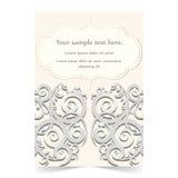 Карточка приглашения, карточка свадьбы с орнаментальной предпосылкой Стоковые Фотографии RF