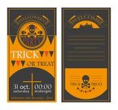 Карточка приглашения на хеллоуин Стоковые Фотографии RF