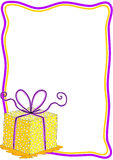 Карточка приглашения подарочной коробки с рамкой Стоковое Изображение RF