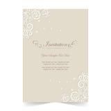 Карточка приглашения, предпосылка карточки свадьбы орнаментальная мягкая Стоковое Изображение