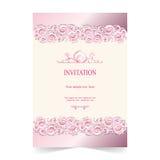 Карточка приглашения, предпосылка пинка карточки свадьбы бесплатная иллюстрация