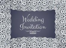 Карточка приглашения, приветствия или свадьбы Стоковые Фото